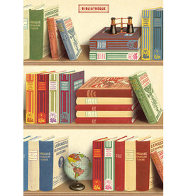Cavallini Wrap Sheet Library Books