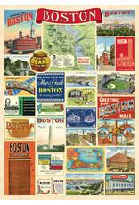 Cavallini Wrap Sheet Boston Collage