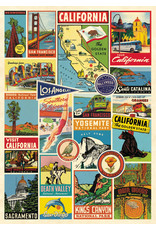 Cavallini Wrap Sheet California Collage