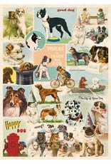 Cavallini Wrap Sheet Dog Collage