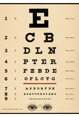 Cavallini Wrap Sheet Eye Chart