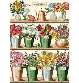 Cavallini Wrap Sheet Flower Market
