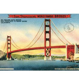 Cavallini Wrap Sheet Golden Gate Bridge
