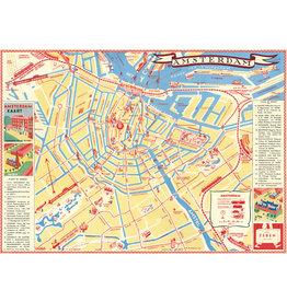 Cavallini Wrap Sheet Amsterdam Map