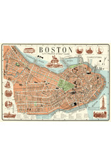 Cavallini Wrap Sheet Boston Map 2