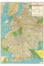 Cavallini Wrap Sheet Brooklyn Map