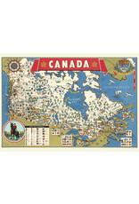 Cavallini Wrap Sheet Canada Map