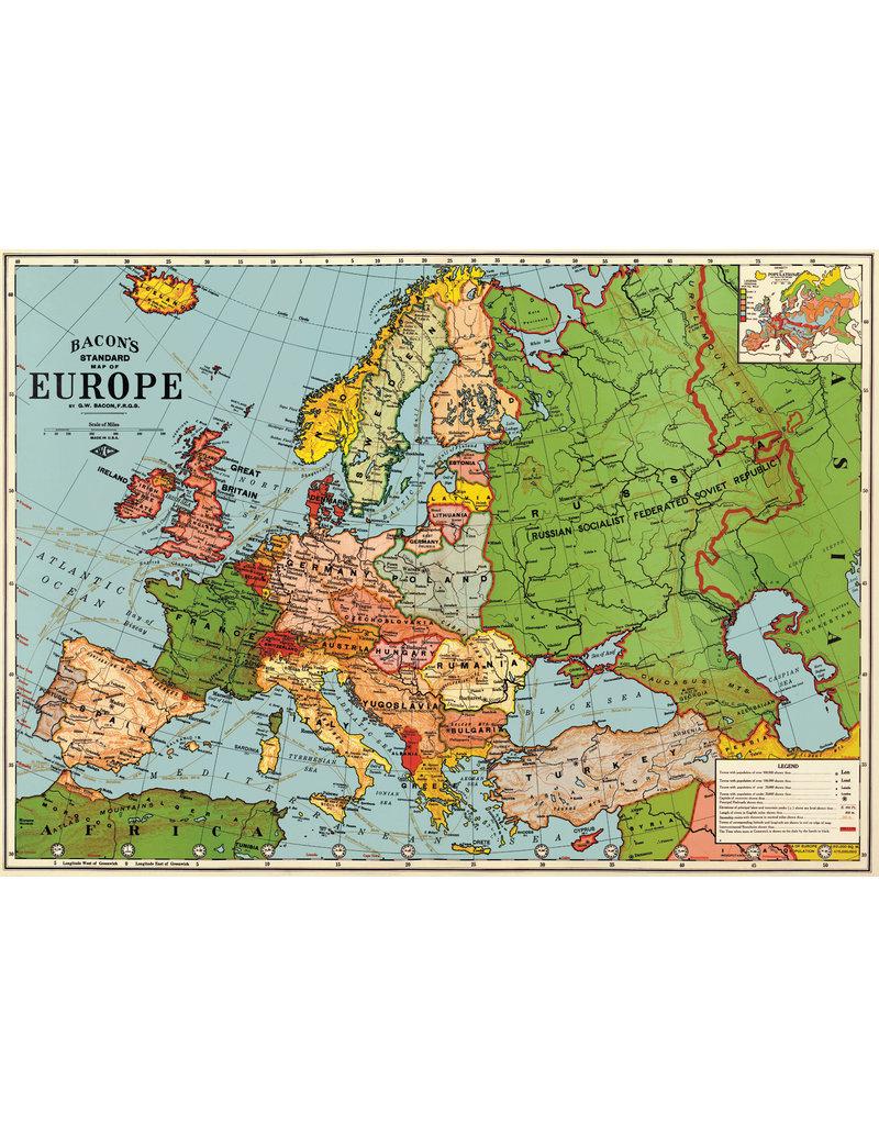 Cavallini Wrap Sheet Europe Map 3