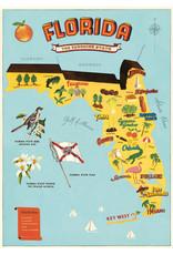 Cavallini Wrap Sheet Florida Map
