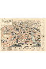 Cavallini Wrap Sheet Florence Map