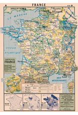 Cavallini Wrap Sheet France Map 2