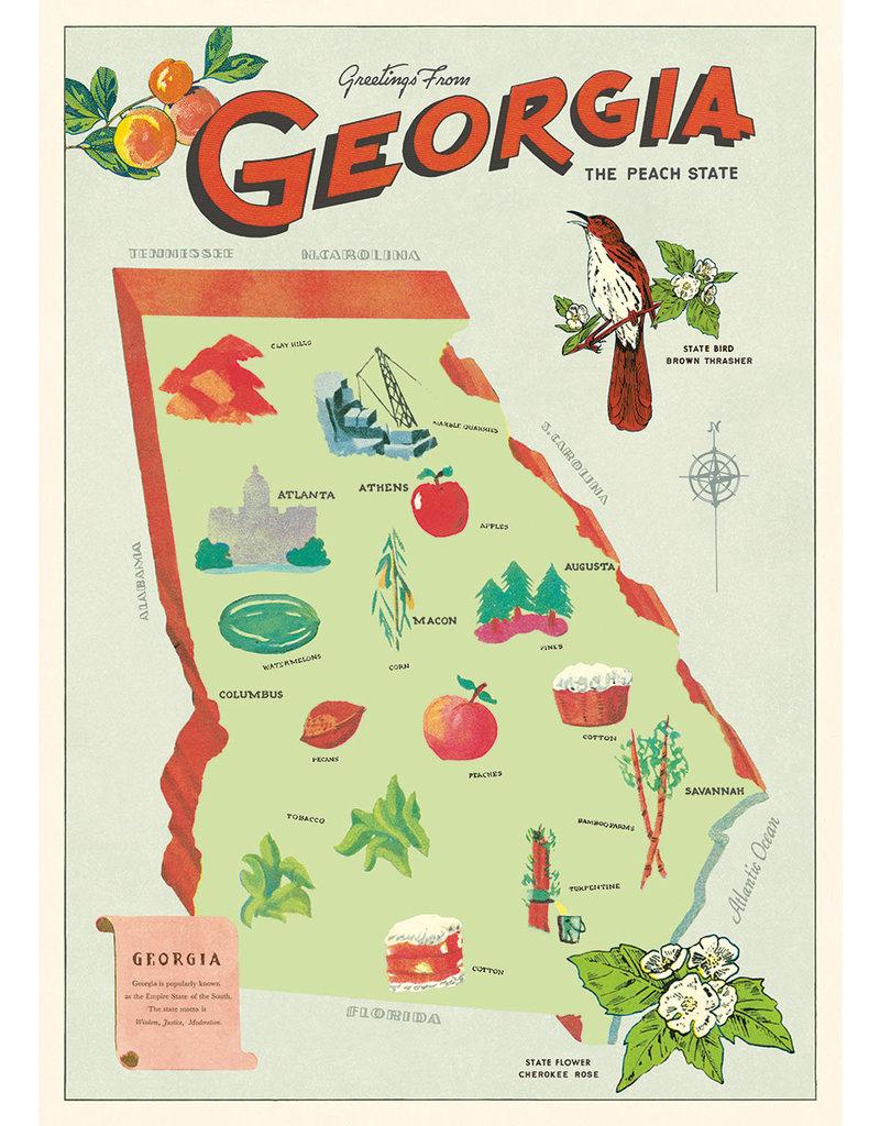 Cavallini Wrap Sheet Georgia Map