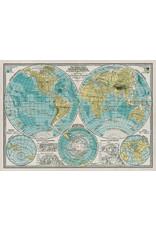 Cavallini Wrap Sheet Hemispheres Map