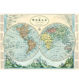 Cavallini Wrap Sheet Hemispheres Map 2