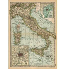 Cavallini Wrap Sheet Italy Map