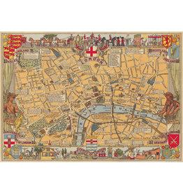 Cavallini Wrap Sheet London Map