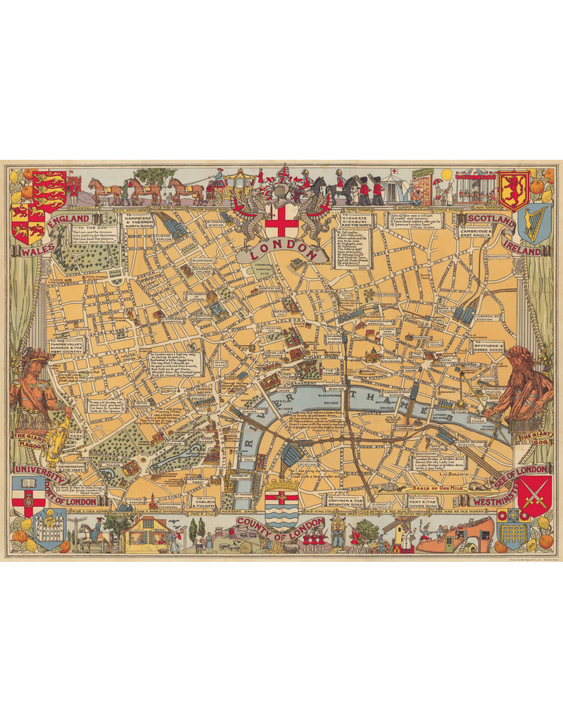 Cavallini Wrap Sheet London Map