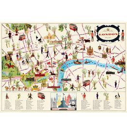 Cavallini Wrap Sheet London Map 4
