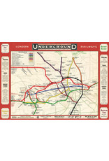 Cavallini Wrap Sheet London Underground Railways