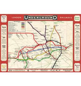 Cavallini Wrap Sheet London Underground Railways