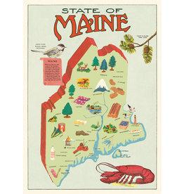 Cavallini Wrap Sheet Maine Map