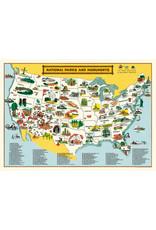 Cavallini Wrap Sheet National Parks Map