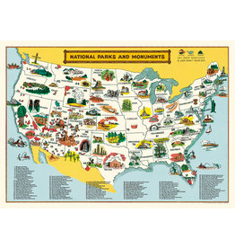 Cavallini Wrap Sheet National Parks Map