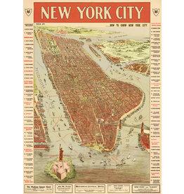 Cavallini Wrap Sheet New York City Map 3