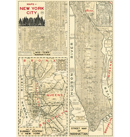 Cavallini Wrap Sheet New York City Map 4