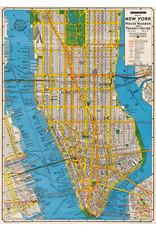 Cavallini Wrap Sheet New York Map