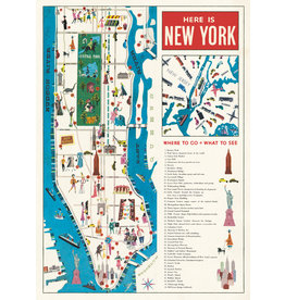 Cavallini Wrap Sheet New York Map 5