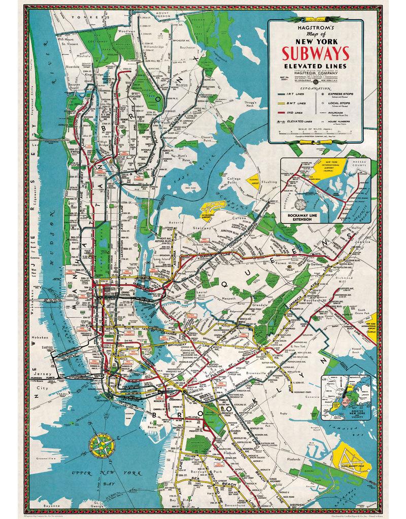 Cavallini Wrap Sheet Nyc Subways Map