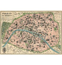 Cavallini Wrap Sheet Paris Map