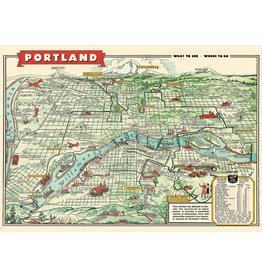 Cavallini Wrap Sheet Portland Map