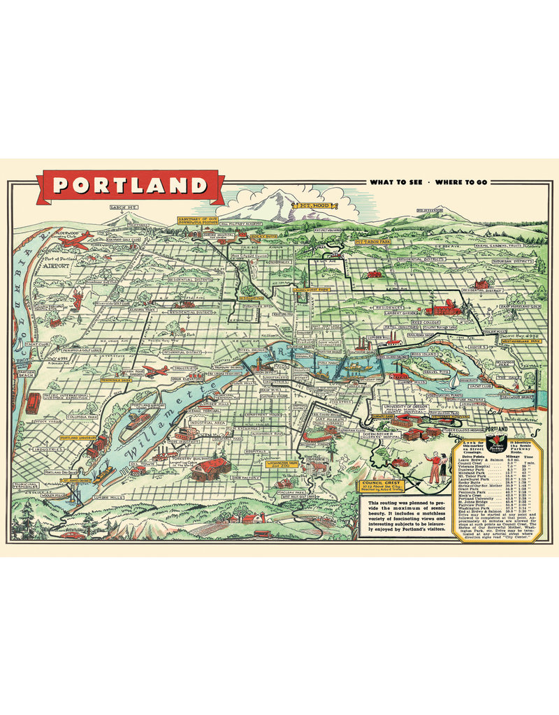 Cavallini Wrap Sheet Portland Map