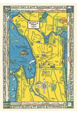 Cavallini Wrap Sheet Seatlle Map 2