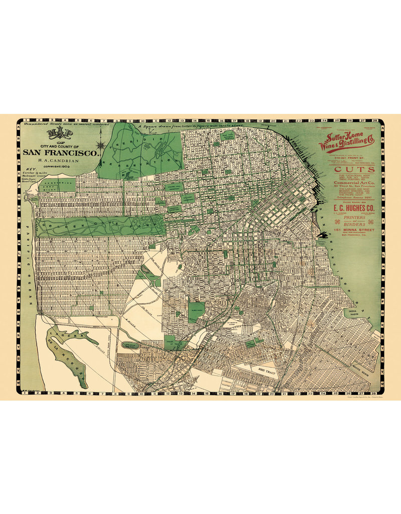 Cavallini Wrap Sheet San Francisco Map