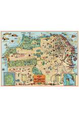 Cavallini Wrap Sheet San Francisco Map 2