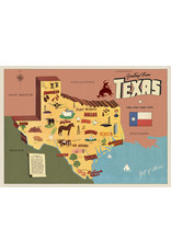Cavallini Wrap Sheet Texas Map