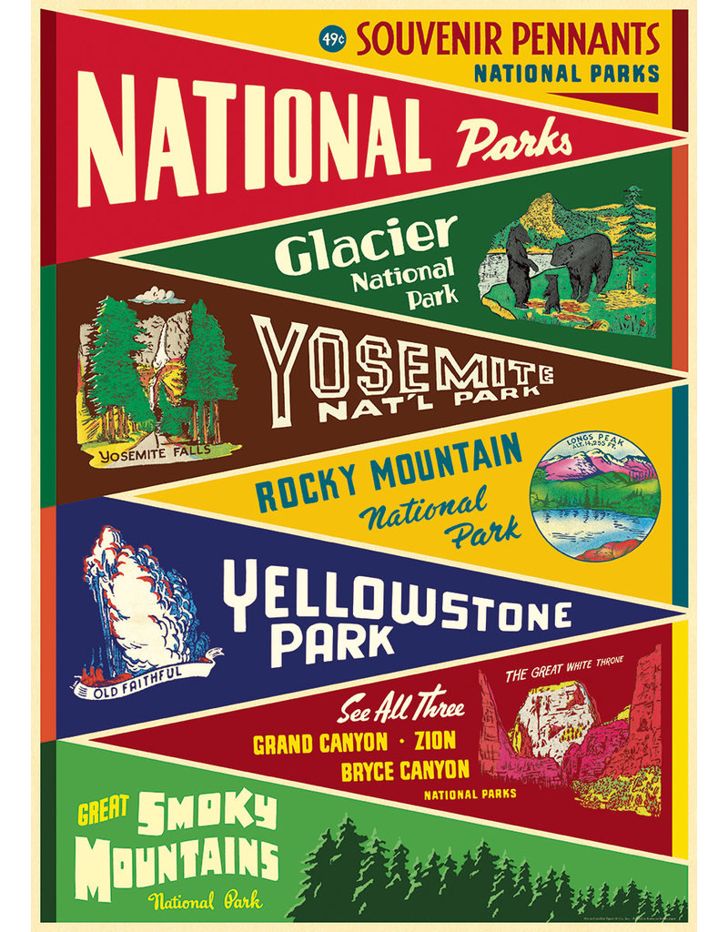 Cavallini Wrap Sheet National Parks Pennants