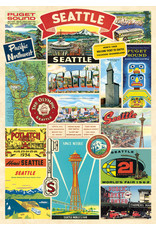 Cavallini Wrap Sheet Seattle Collage