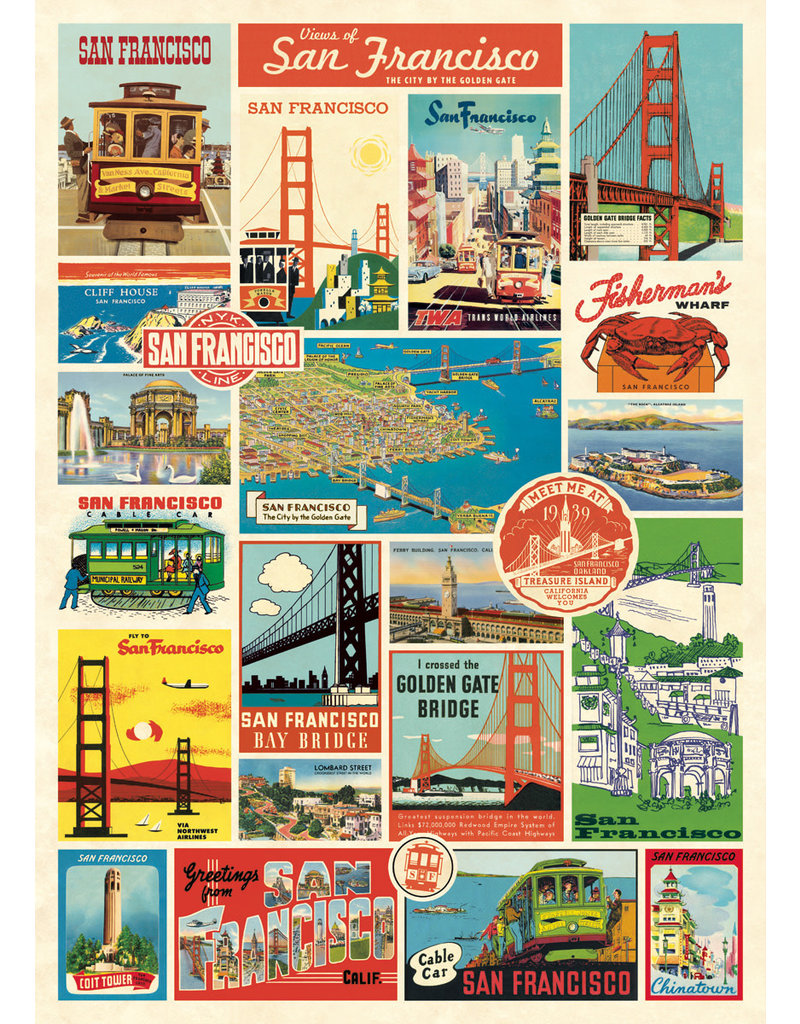 Cavallini Wrap Sheet San Francisco Collage 3