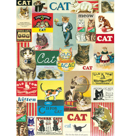 Cavallini Wrap Sheet Vintage Cats