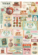 Cavallini Wrap Sheet Vintage Tea