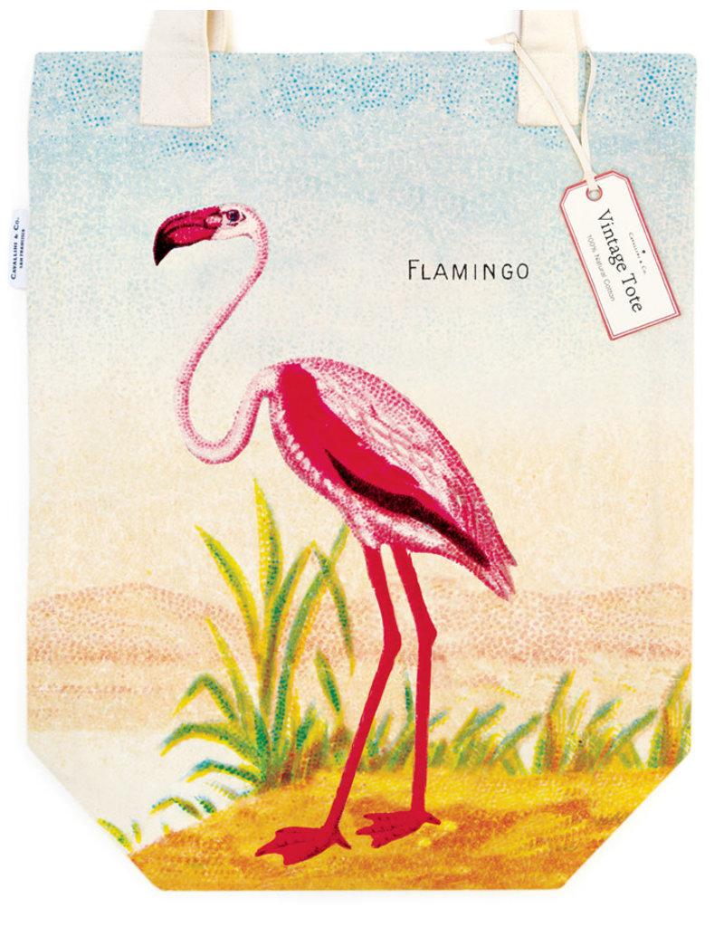 Cavallini Tote Bag Flamingo
