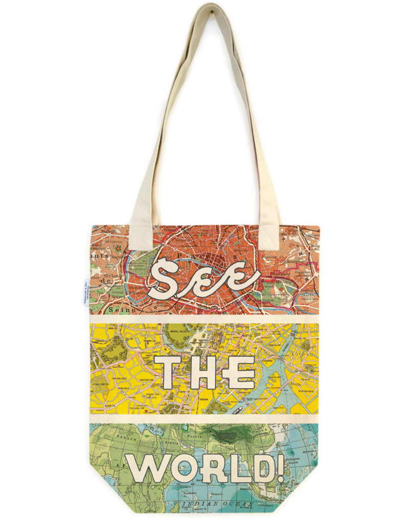 Cavallini Tote Bag See The World