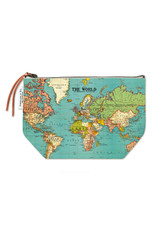 Cavallini Pouch World Map