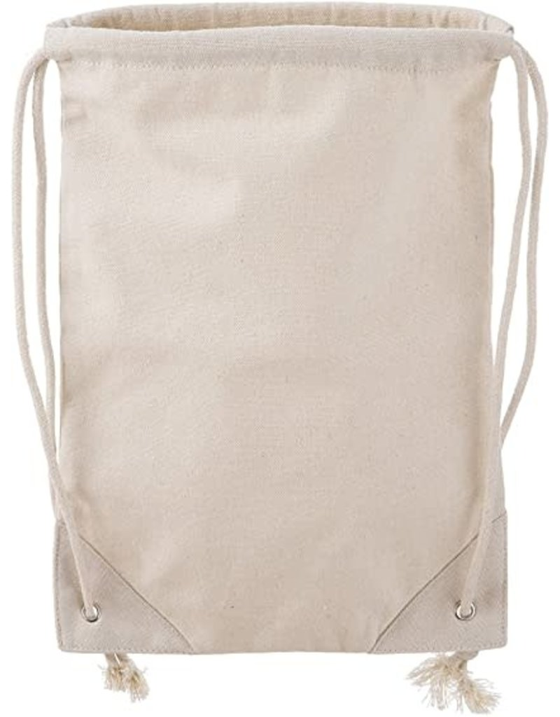 Darice Canvas Drawstring Backpack: 11 X 16 Inches