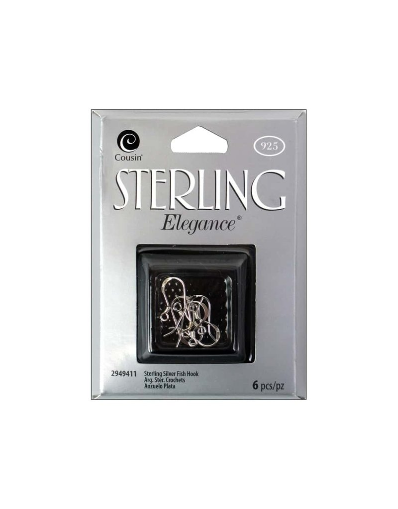 Darice 6PC Sterling Fish Hook Earring Post