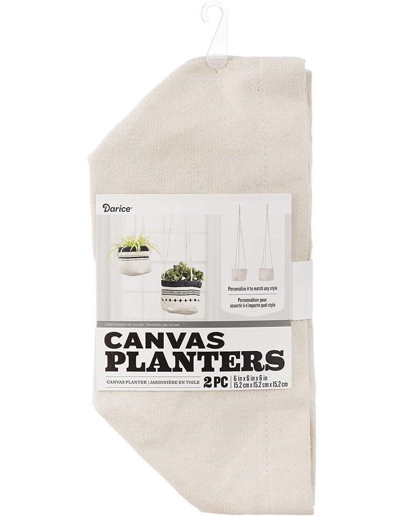 Darice Canvas Planters: 6 X 6 Inches